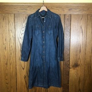 Boden Denim Midi Shirt Dress